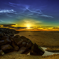 Buy canvas prints of Brancaster Beach Sunset by Alan Simpson