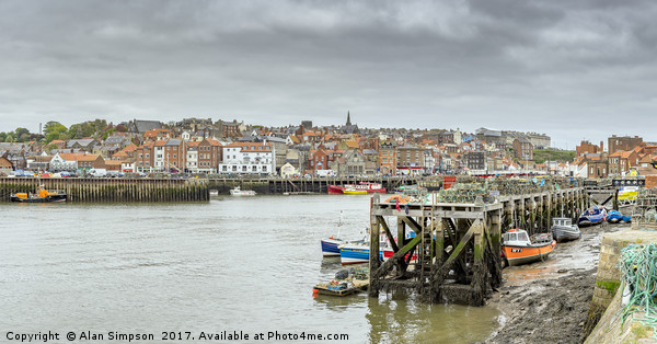 Whitby Harbour Canvas print by Alan Simpson