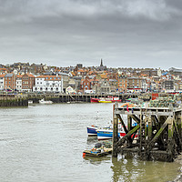 Buy canvas prints of Whitby Harbour by Alan Simpson