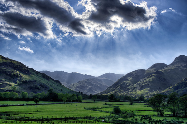 Langdale Valley Canvas Print by Alan Simpson
