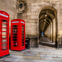 Buy canvas prints of  The Red Telephone Box,s  by William Duggan