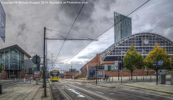 Manchester Morning Tram. Canvas print by William Duggan