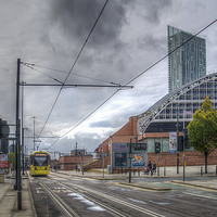 Buy canvas prints of  Manchester Morning Tram. by William Duggan