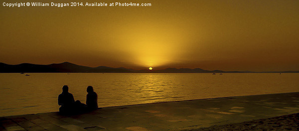 A Croatian Sunset For Two in Zadar Canvas print by William Duggan