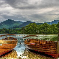 Buy canvas prints of  Lake Boats  by William Duggan