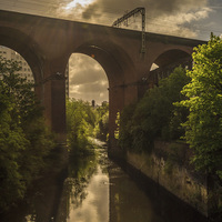 Buy canvas prints of  Stockport Viaduct  by William Duggan