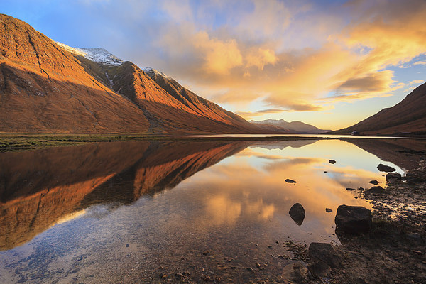 Last Light at Loch Etive Canvas Print by Andrew Ray