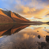 Buy canvas prints of Last Light at Loch Etive by Andrew Ray