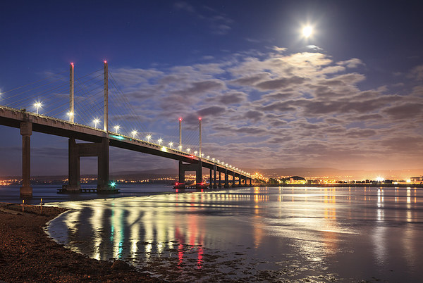Kessock Bridge, Inverness Canvas print by Andrew Ray
