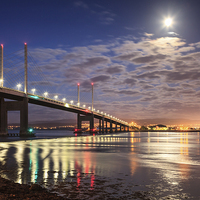Buy canvas prints of Kessock Bridge, Inverness by Andrew Ray