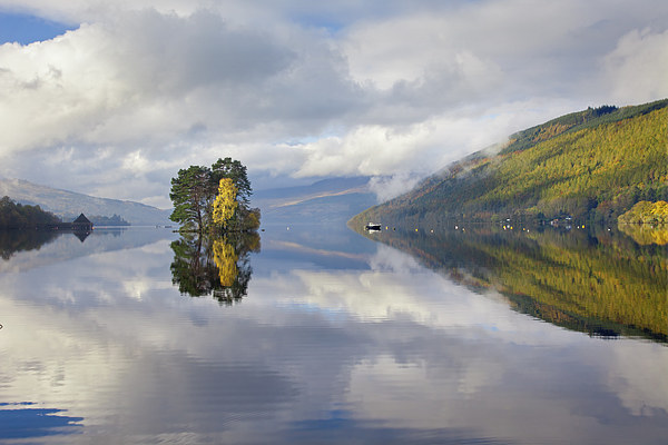 Loch Tay Reflections Canvas Print by Andrew Ray