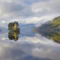 Buy canvas prints of Loch Tay Reflections by Andrew Ray