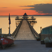 Buy canvas prints of Towards Clevedon Pier by Andrew Ray