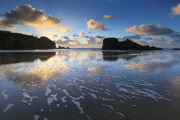 Patterns on the Beach (Perranporth) Canvas print by Andrew Ray