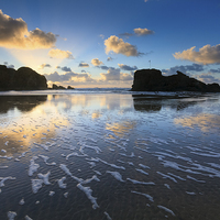 Buy canvas prints of Patterns on the Beach (Perranporth) by Andrew Ray