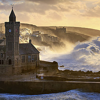 Buy canvas prints of Stormy Morning (Porthleven)  by Andrew Ray