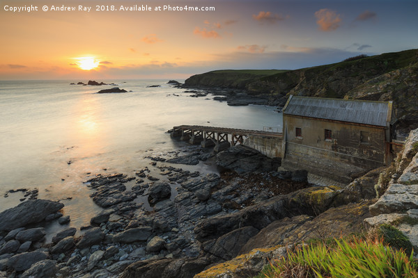 The setting sun (Lizard Point) Canvas Print by Andrew Ray