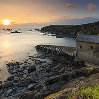 Buy canvas prints of The setting sun (Lizard Point) by Andrew Ray