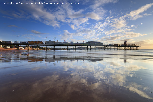 Reflections at Paignton Canvas print by Andrew Ray
