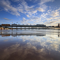 Buy canvas prints of Reflections at Paignton by Andrew Ray
