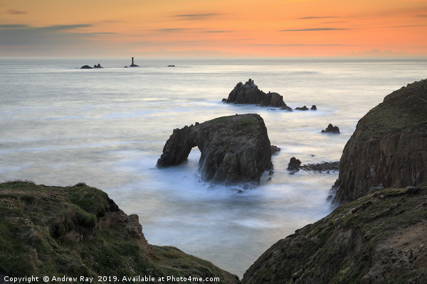 Sunset view (Land's End) Canvas print by Andrew Ray