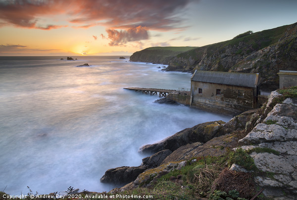 Lizard Point at sunset Canvas Print by Andrew Ray