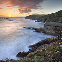 Buy canvas prints of Lizard Point at sunset by Andrew Ray