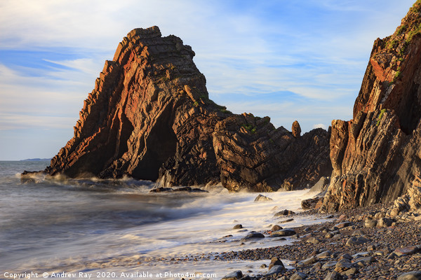 Blackchurch Rock (Mouthmill) Canvas Print by Andrew Ray