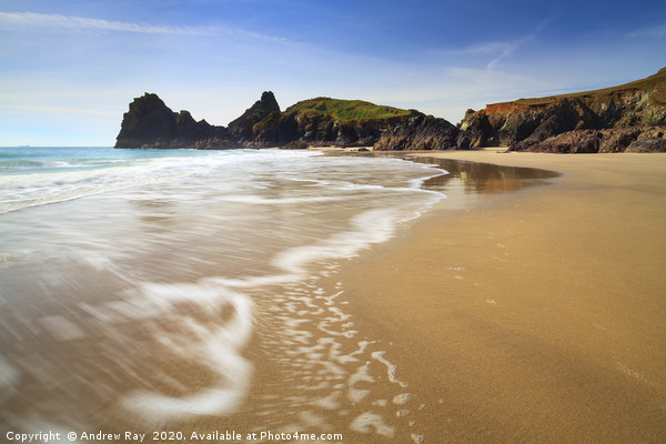Kynance Beach Canvas print by Andrew Ray