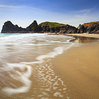 Buy canvas prints of Kynance Beach by Andrew Ray