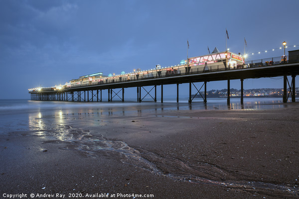 The Pier at Paignton Canvas print by Andrew Ray