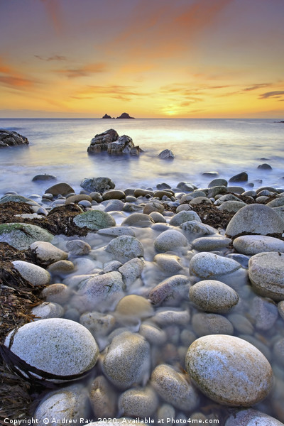 Porth Nanven Sunset Canvas print by Andrew Ray