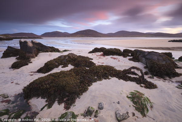 Luskentyre Sunset Canvas print by Andrew Ray