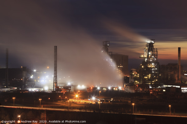Early evening at Port Talbot Canvas Print by Andrew Ray