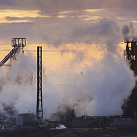 Buy canvas prints of Sunset at Port Talbot by Andrew Ray