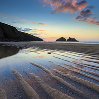 Buy canvas prints of Sand Ripples on Holywell Beach by Andrew Ray