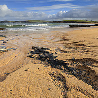 Buy canvas prints of Sand Patterns at Harlyn Bay by Andrew Ray