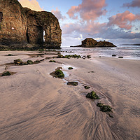 Buy canvas prints of Sunrise at Perranporth Arch by Andrew Ray