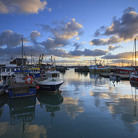 Buy canvas prints of Sunrise Reflections at Padstow by Andrew Ray