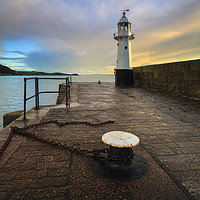 Buy canvas prints of Mevagissey Lighthouse by Andrew Ray