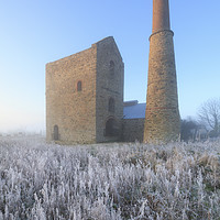 Buy canvas prints of Frosty morning (Wheal Busy) by Andrew Ray