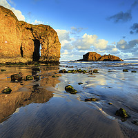 Buy canvas prints of Arch reflections (Perranporth) by Andrew Ray