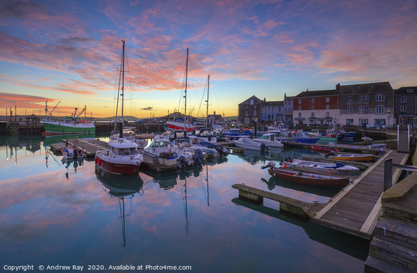 Padstow Harbour at sunrise Acrylic by Andrew Ray