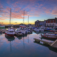 Buy canvas prints of Padstow Harbour at sunrise by Andrew Ray