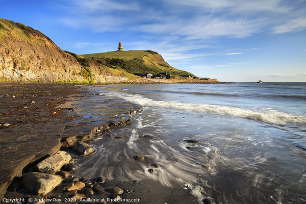 Wave pattern at Kimmeridge  Print by Andrew Ray