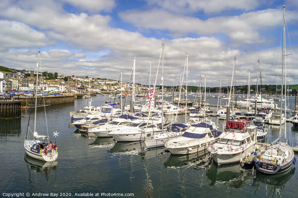 Falmouth Harbour Print by Andrew Ray
