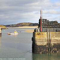 Buy canvas prints of Padstow Outer Harbour by Andrew Ray