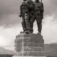 Buy canvas prints of Commando Memorial by Howard Kennedy