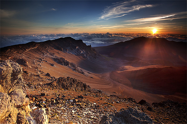 Sunrise at the end of the World Canvas print by Amit Saha
