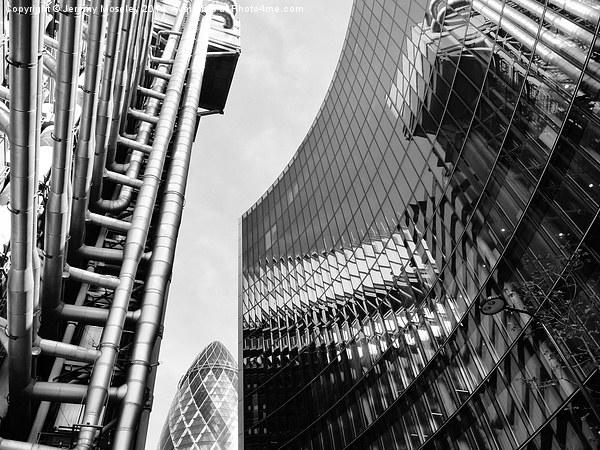 London cityscape  Canvas print by Jeremy Moseley